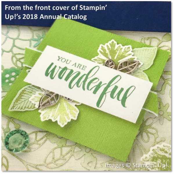 Rooted in Love, Stampin' Up! 2018 Annual Catalog Cover, Granny Apple Green