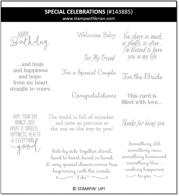 Special Celebrations, Stampin' Up!, 143885