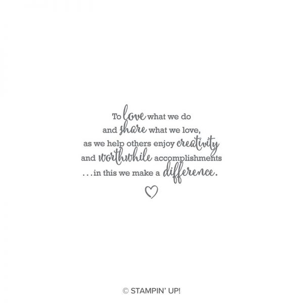 Statement of My Heart, Stampin' Up!