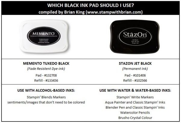 Which black ink pad should I use, Stampin' Up!
