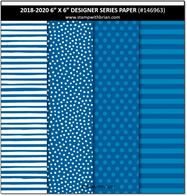 2018-2020 In Color Designer Series Paper, Blueberry Bushel, Stampin' Up!, Brian King