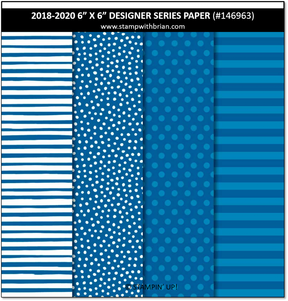 2018-2020 In Color Designer Series Paper, Stampin' Up!, Brian King