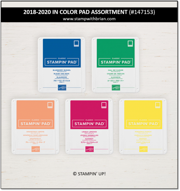 2018-2020 In Color Pad Assortment, Stampin' Up! 147153