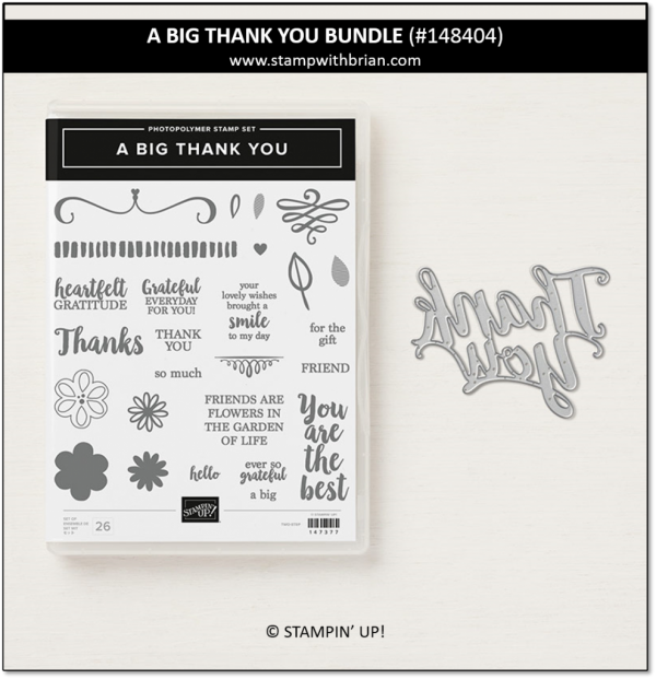 A Big Thank You Bundle, Stampin' Up! 148404