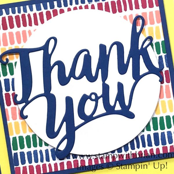 A Big Thank You, Stampin' Up!, Brian King, FabFri140