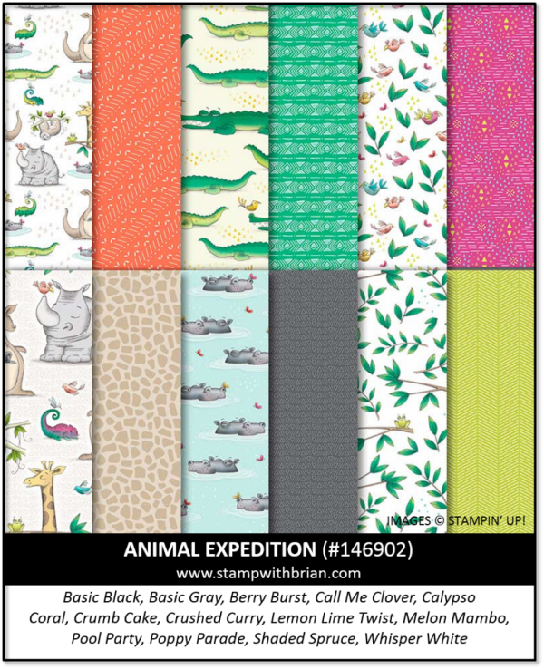 Animal Expeditions Designer Series Paper, Stampin' Up! 146902