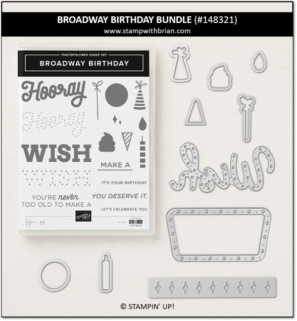 Broadway Birthday Bundle, Stampin' Up!, 148321