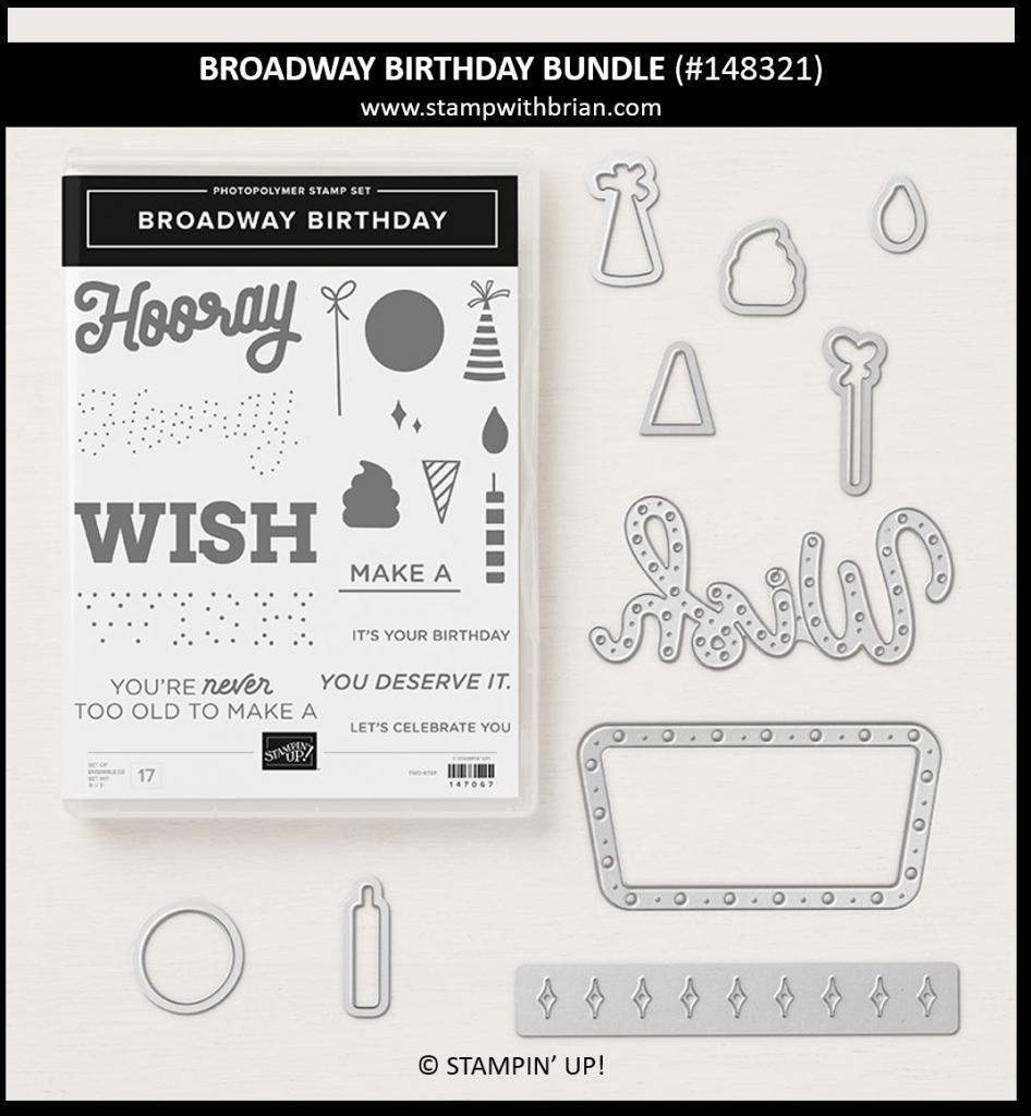 Broadway Birthday Bundle, Stampin' Up!, 148321
