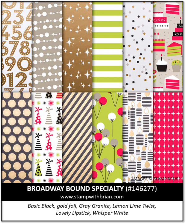 Broadway Bound Specialty Designer Series Paper, Stampin' Up!, 146277