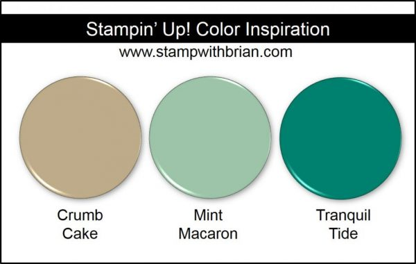 Stampin' Up! Color Inspiration: Crumb Cake, Mint Macaron, Tranquil Tide