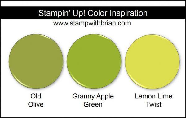 Stampin' Up! Color Inspiration: Old Olive, Granny Apple Green, Lemon Lime Twist
