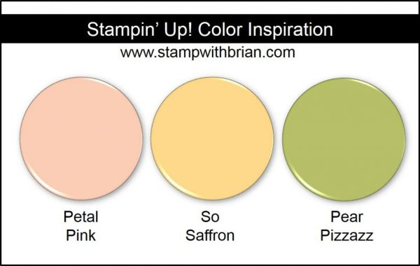 Stampin' Up! Color Inspiration: Petal Pink, So Saffron, Pear Pizzazz