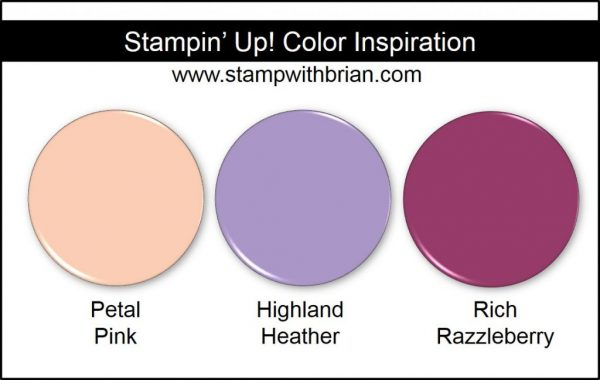 Stampin' Up! Color Inspiration: Petal Pink, Highland Heather, Rich Razzleberry