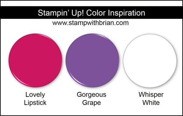Stampin' Up! Color Inspiration: Lovely Lipstick, Gorgeous Grape, Whisper White