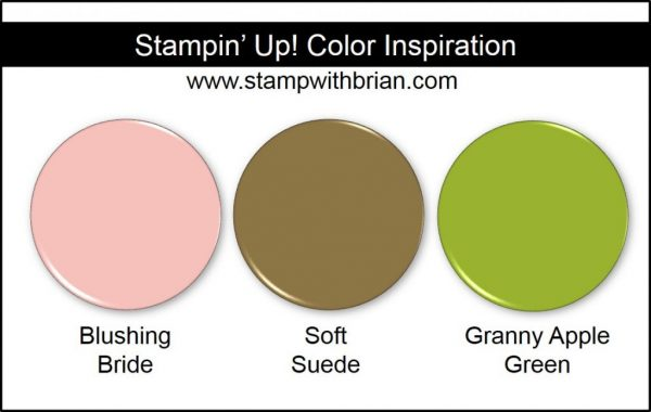 Stampin' Up! Color Inspiration: Blushing Bride, Soft Suede, Granny Apple Green
