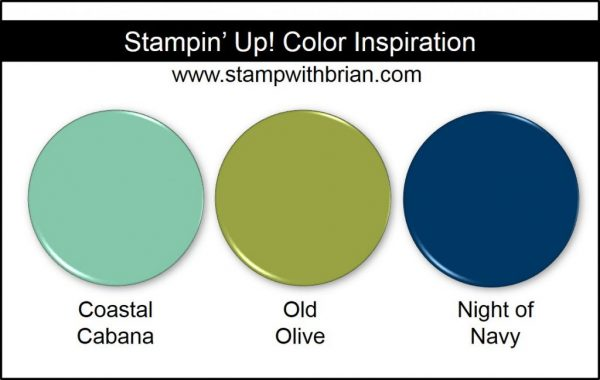 Stampin' Up! Color Inspiration: Coastal Cabana, Old Olive, Night of Navy