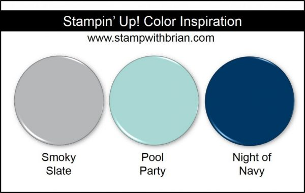 Stampin' Up! Color Inspiration: Smoky Slate, Pool Party, Night of Navy