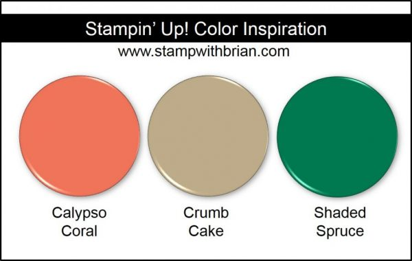 Stampin' Up! Color Inspiration: Calypso Coral, Crumb Cake, Shaded Spruce