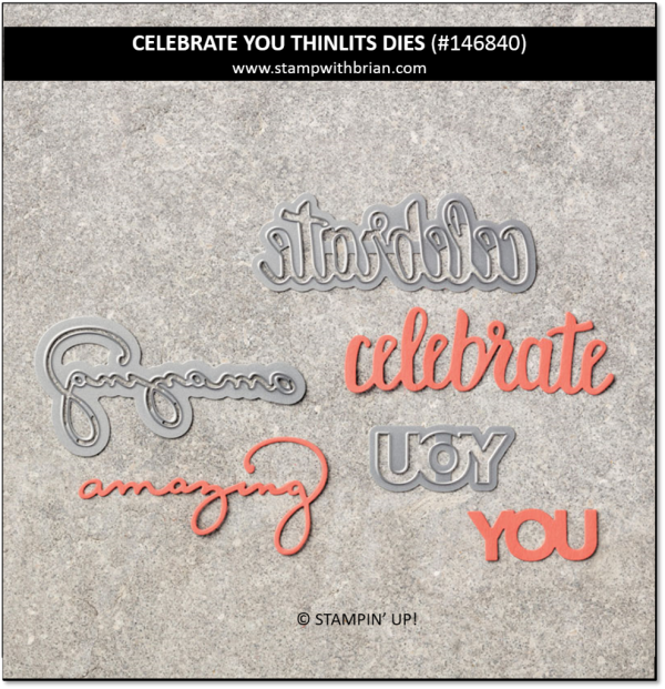 Celebrate You Thinlits Dies, Stampin' Up!, 146840