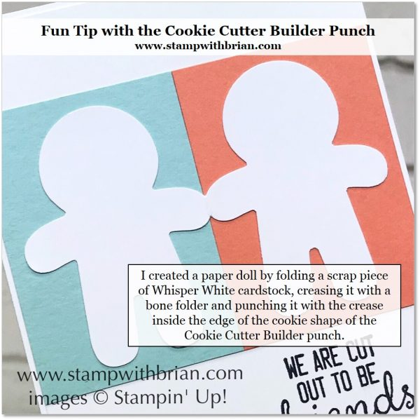 Create a paper doll with the Cookie Cutter Builder Punch, Stampin' Up!, Brian King