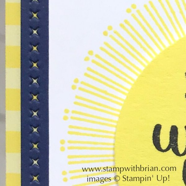 Fun accents with Stitched Lables Framelits Dies, Stampin' Up!, Brian King