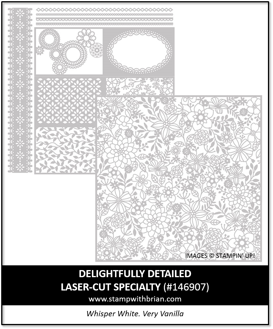 Delightfully Detailed Laser-Cut Specialty Paper, Stampin' Up!, 146907