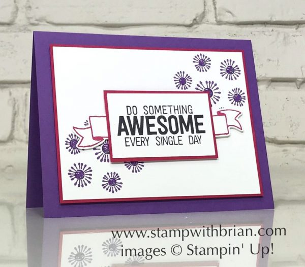 En Route, Banners for You, Birthday Backgrounds, Stampin' Up!, Brian King
