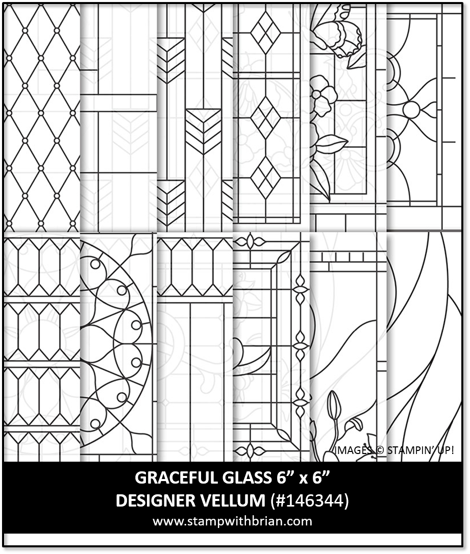Graceful Glass Designer Vellum, Stampin' Up!, 146344