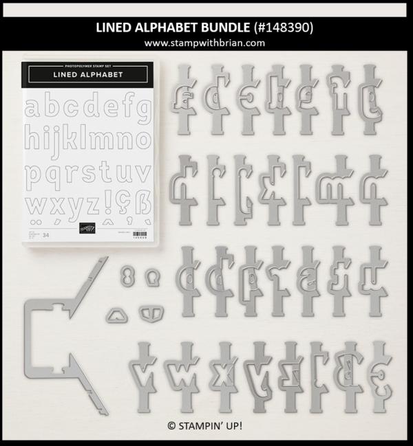 Lined Alphabet Bundle, Stampin' Up!, 148390