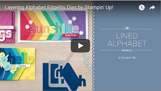 Lined Alphabet Bundle, Stampin' Up!