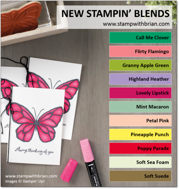 New Stampin' Blends Colors