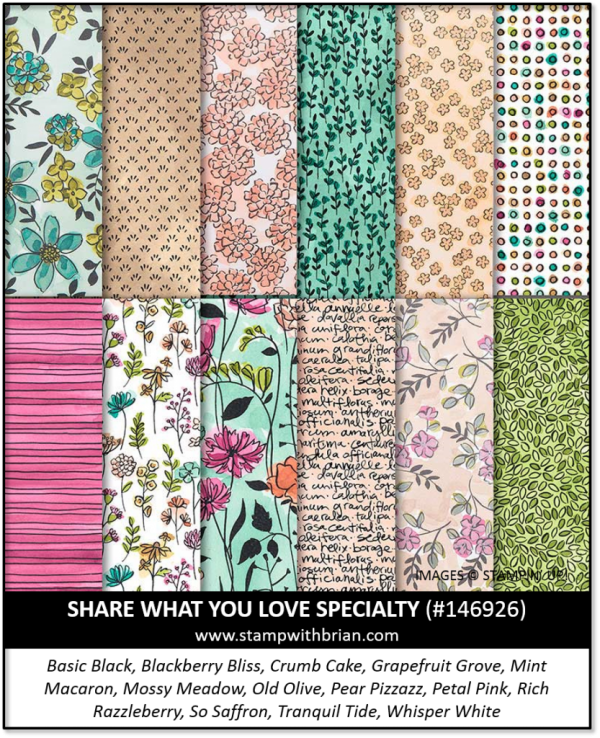Share What You Love Specialty Designer Series Paper, Stampin' Up!, 146926