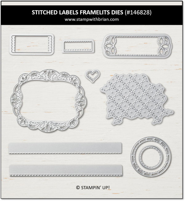 Stitched Labels Framelits Dies, Stampin' Up!, 146828