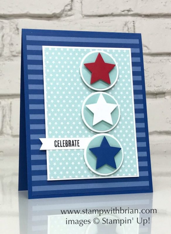 Tabs for Everything, Stampin' UP!, Brian King, July 4 card, patriotic card