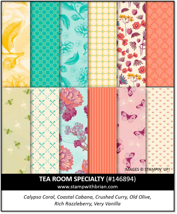 Tea Room Specialty Designer Series Paper, Stampin' Up!, 146894