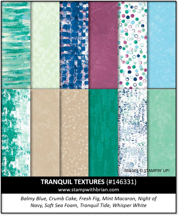 Tranquil Textures Designer Series Paper, Stampin' Up!, 146331