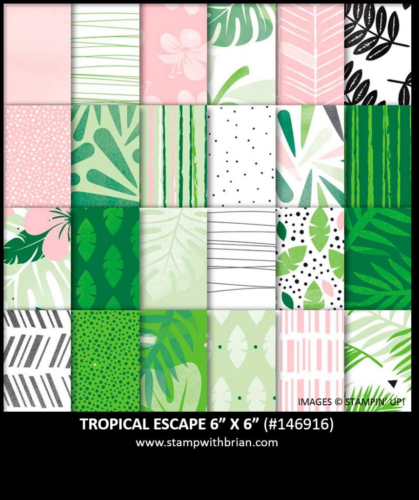 Tropical Escape Designer Series Paper, Stampin' Up! 146916