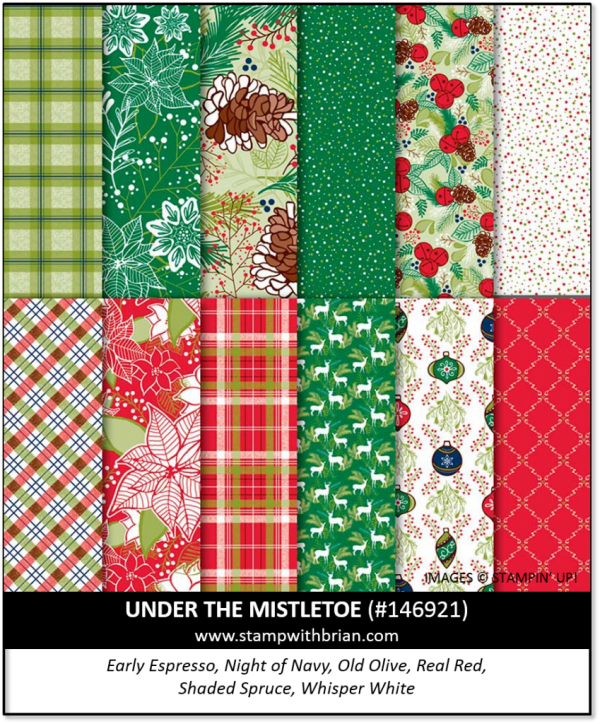 Under the Mistletoe Designer Series Paper, Stampin' Up!, 146921
