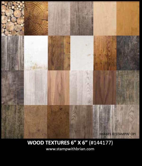 Wood Textures Designer Series Paper, Stampin' Up!, 144177