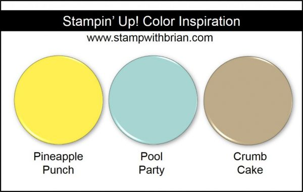 Stampin' Up! Color Inspiration: Pineapple Punch, Pool Party, Crumb Cake