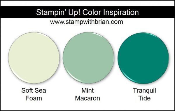 Stampin' Up! Color Inspiration: Soft Sea Foam, Mint Macaron, Tranquil Tide