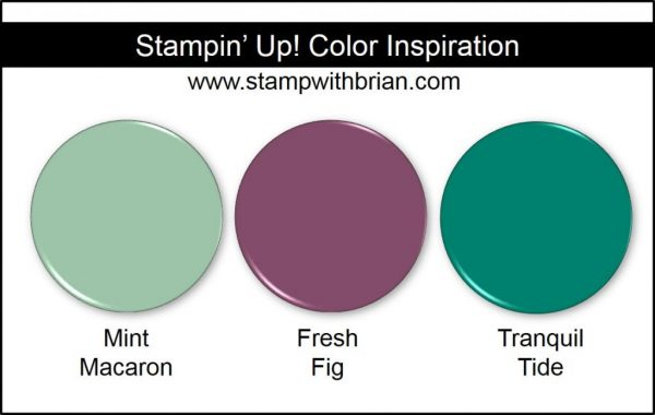 Stampin' Up! Color Inspiration: Mint Macaron, Fresh Fig, Tranquil Tide