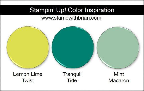 Stampin' Up! Color Inspiration: Lemon Lime Twist, Tranquil Tide, Mint Macaron