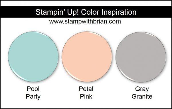 Stampin' Up! Color Inspiration: Pool Party, Petal Pink, Gray Granite