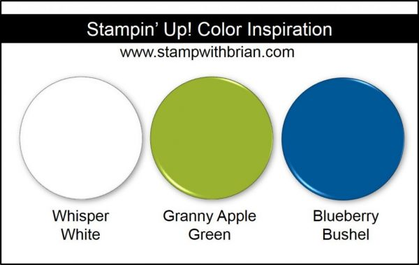 Stampin' Up! Color Inspiration: Whisper White, Granny Apple Green, Blueberry Bushel