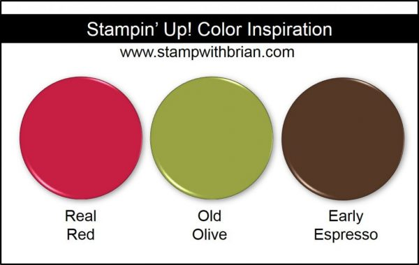 Stampin' Up! Color Inspiration: Real Red, Old Olive, Early Espresso