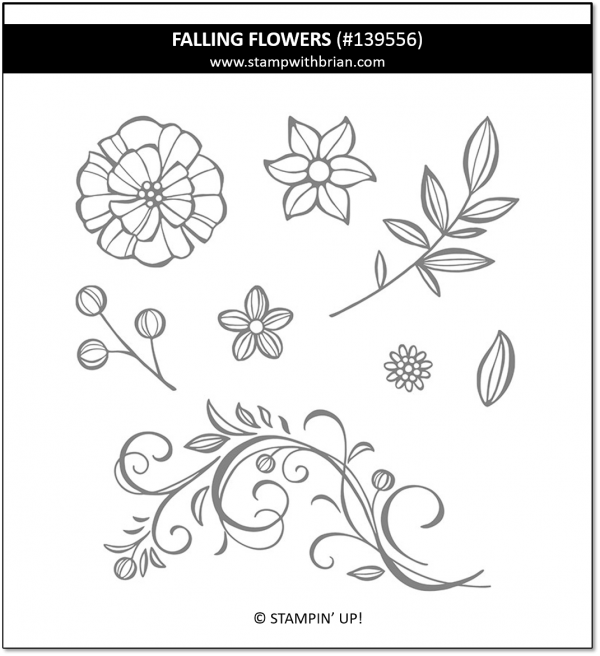 Falling Flowers, Stampin' Up! 139556