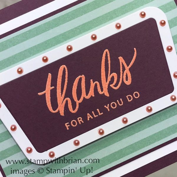 Friendly Expressions, Broadway Lights Framelits Dies, Stampin' Up!, Brian King, GDP145
