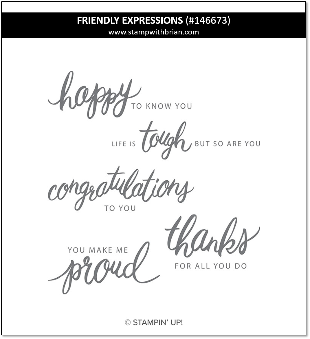 Friendly Expressions, Stampin' Up!, 146673