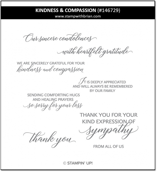 Kindness & Compassion, Stampin' Up! 146729